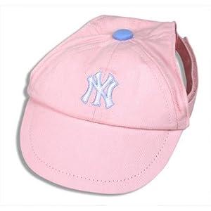 Sporty K9 New York Yankees Pink Dog Cap, Medium/Large