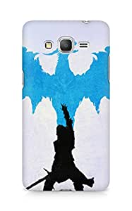Amez designer printed 3d premium high quality back case cover for Samsung Galaxy Grand Prime (Dragon age blue art illust)