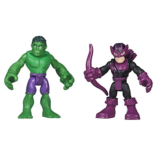 Playskool Heroes Marvel Super Hero Adventures Hulk and Marvel's Hawkeye - 1
