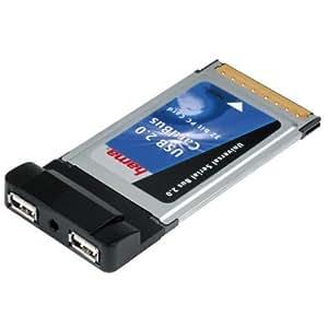 Hama USB 2.0 CardBus, PC Card, 2fach