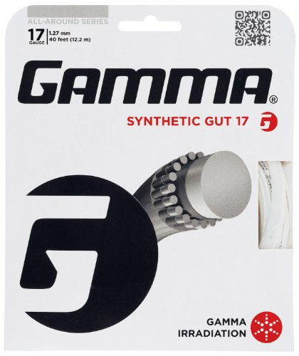 Gamma Synthetic Gut 17G Tennis String, White - 1