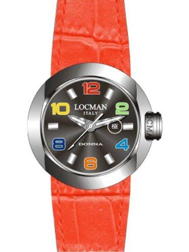Locman - 042100BKNCO1PSR-K-KS - Montre Femme - Quartz Analogique - Bracelet cuir Rouge