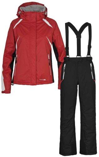 Girls TRESPASS MISHKA Ski Jacket & Salopettes Suit Set RED BLACK Ages 11/12 & 13/14
