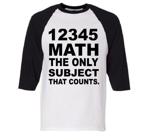 12345 Math The Only Subject That Counts Raglan Baseball T-Shirt