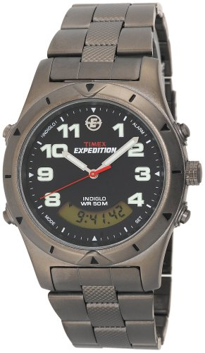 Timex Men's T41101 Expedition Metal Field Analog-Digital Sandblasted Bracelet Watch
