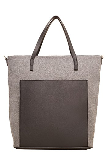 mango-womens-contrasting-bag-grey-one-size