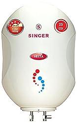 Singer Vesta25 25-Litre 2000-Watt Storage Water Heater (Ivory)
