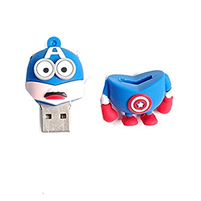 Generic Superhero Minion 16Gb 2.0 Usb Pendrive (Captain America)  - Multi Colored