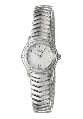 Ebel 9157F19-971025 - Reloj analógico de cuarzo para mujer, correa de acero inoxidable color plateado