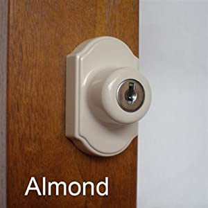 Keyed Storm Door Deadbolt Almond 1 Inch Thick Door