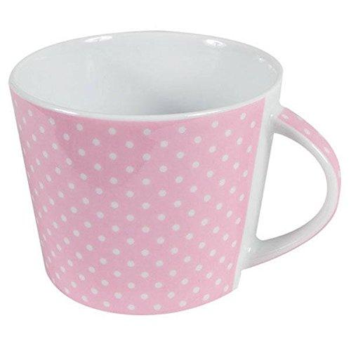 Porzellan Kaffee Tasse Mini Dots Punkte Rosa Inhalt 0,2 l Tafelservice Hergestellt in Deutschland, mikrowellensicher, spülmaschinenfest