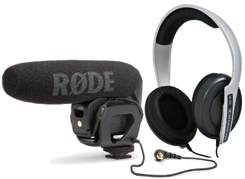 Videography 101: Rode VideoMic Pro – Compact Directional On-camera Shotgun Microphone with Sennheiser HD 203 Semi-Around-the-Ear Studio Stereo Lightweight Headphones