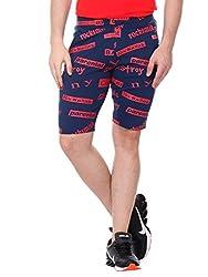 Glasgow Men's Cotton Shorts (NICK445_Blue_Large)