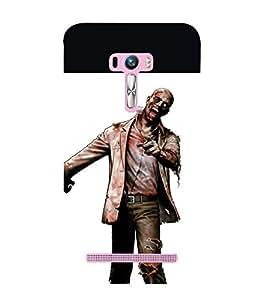 printtech Zombie Man Back Case Cover for Asus Zenfone Selfie::Asus Zenfone Selfie ZD551KL