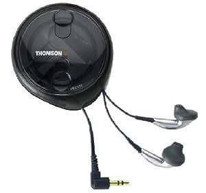 Thomson Ecouteurs avec basses renforcées + boîtier enrouleur manuel + HP 13mm + contrôle du volume sur le cordon cordon 1,2m Connecteur plaqué or