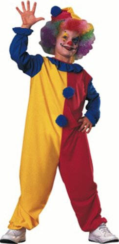 Big Boy Big Girl Halloween Child Clown Costume Large Multicolored