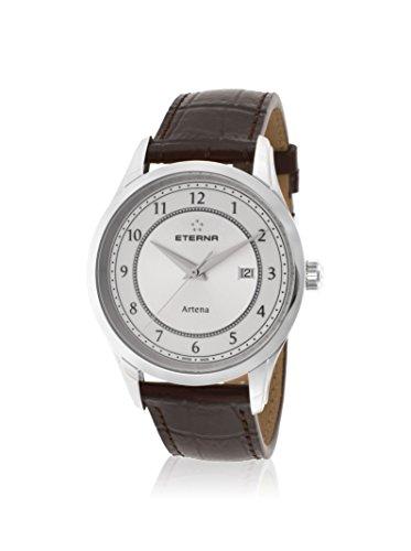 Eterna Men's Artena Dark Brown/White Leather Watch