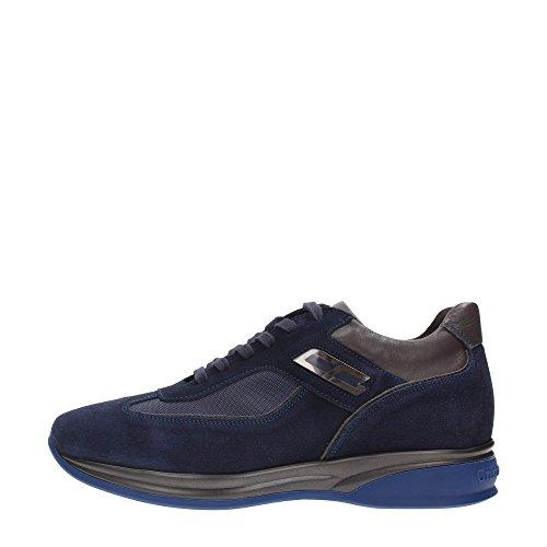 Cristiano Gualtieri 536 AI16 Sneakers Uomo Scamosciato Blu - Grigio Blu - Grigio 41