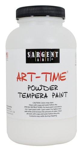 Sargent Art 22-7196 1-Pound Art Time Powder Tempera, White - 1