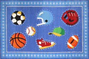 Go Team OLIVE KIDS 39 x 58 Area Rug