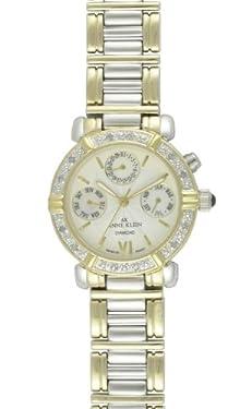 Anne Klein Women's 10-7899MPTT Diamond Accented Multi-Function Two-Tone Watch