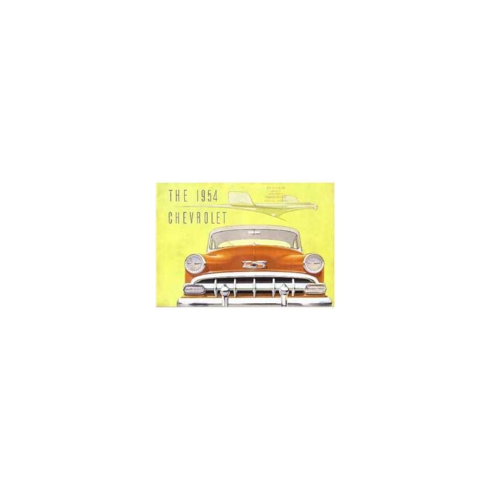 1954 Chevrolet Sales Brochure Literature Book Piece Advertisement Specs Options