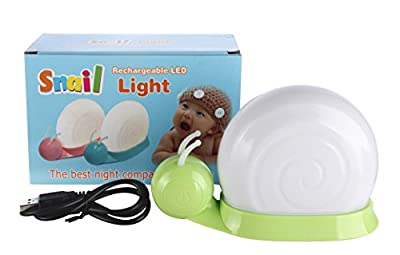 "Snail Baby Night Light By LED Touch Sensor,With Micro-USB Charger, Color Changeable Bedside Lamp(6.3""x2.56""x3.94"")"