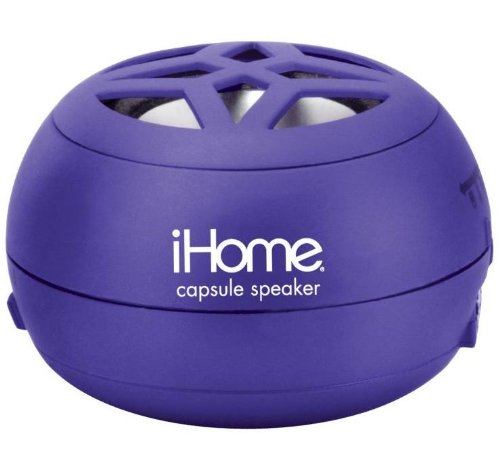 Ihome Colortunes Mini Retractable Rechargeable Capsule Speaker For All Netbook, Notebook, Laptop Or Desktop Computers Or Dvd Players - Purple