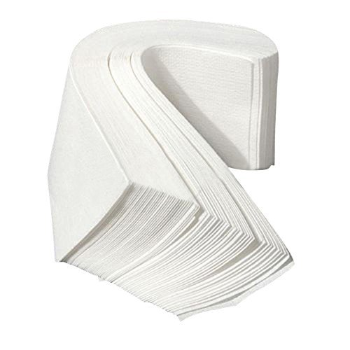 polytree-100pcs-non-woven-facial-body-hair-removal-paper-depilatory-epilator-wax-strip-white