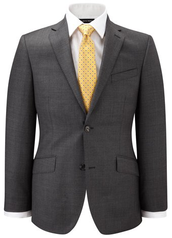 Austin Reed Contemporary Fit Grey Sharkskin Jacket REGULAR MENS 38