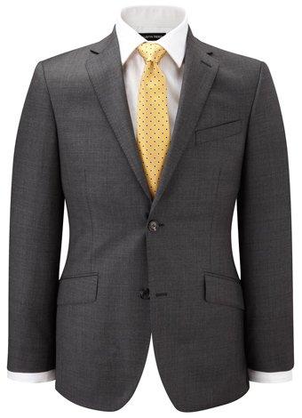 Austin Reed Contemporary Fit Grey Sharkskin Jacket REGULAR MENS 42