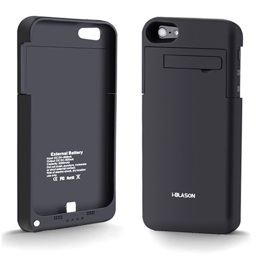 I-Blason Powerslider Iphone 5 Rechargeable External Battery Slim Fit Glider Full Protection Case With Micro 5 Pin Usb Charging Connector- At&T, Sprint, Verizon - Black