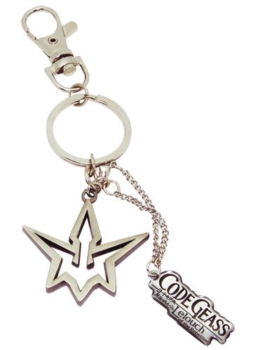 Code Geass: Black Knights Symbol and Code Geass Logo Key Chain