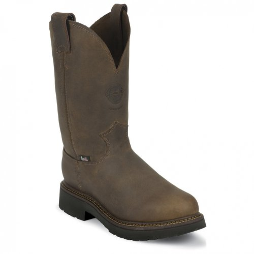 "Justin Original Work Boots U.S.A. Men's J-Max 11"" Pull-On Boot,Rugged Bay Gaucho,8 D US"