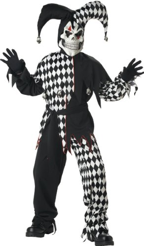 Evil Jester Childs Costume