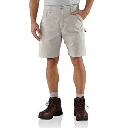 Carhartt Men\'s Canvas Utility Work Short B144,Putty,36