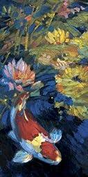 12W x 24H Asian Serenity I by Leif Ostlund - Stretched Canvas w/ BRUSHSTROKES