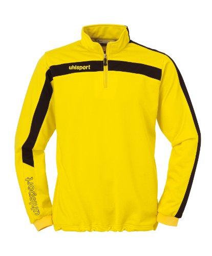 Uhlsport- Felpa Liga con cerniera Uomo, colore Giallo (yellow/black), taglia produttore L