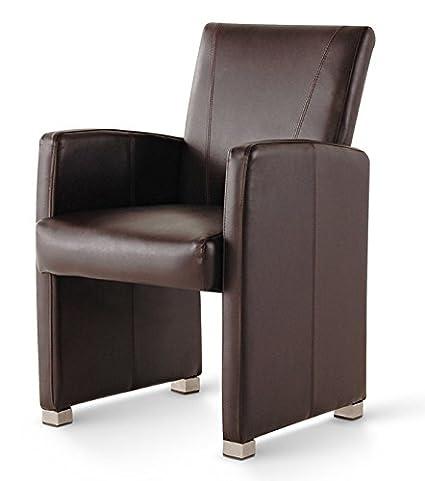 Lounge Sessel Clubsessel Cocktailsessel Lederimitat braun
