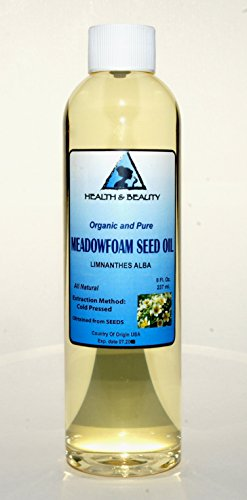 Meadowfoam Seed Oil Organic Carrier Expeller Pressed 100% Pure 8 oz