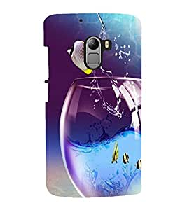 printtech Fish Glass Water Back Case Cover for  Lenovo K4 Note A7010a48, A7010