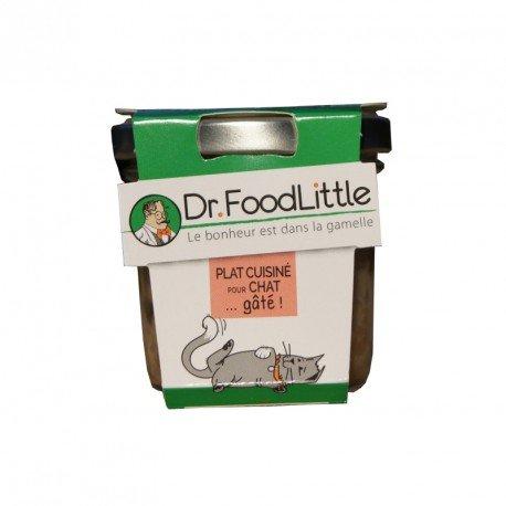 Dr FoodLittle - Plat cuisiné pour chat - Saumon, Courgettes, Boulgour