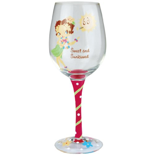 Westland Giftware 9-Inch Wine Glass, 15-Ounce, Betty Boop Sweet and Sunkissed (Betty Boop Wine Glass compare prices)