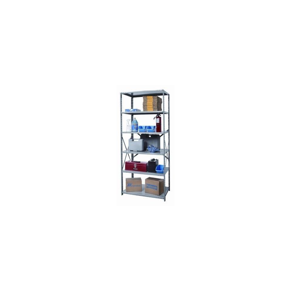 Hallowell 511 Hi Tech Shelving Heavy Duty Open Type Starter Unit with 6 Shelves Size 87 H x 48 W x 12 D