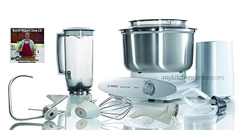 Bosch Mixer Deluxe W/stainless Steel Bowl, Cookie Paddles, Dough Hook Extender, Blender and Video with Robert Hair