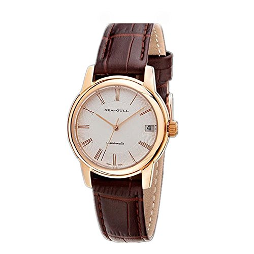 Luxury Brand Seagull Retro Business Rose Gold Automatic Mens Wrist Watch D819.405L
