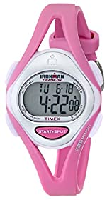 """Timex Women's T5K7029J """"Ironman"""" Watch with Pink Resin Strap"""
