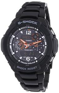 CASIO GW3500BD1AER - Reloj de caballero de cuarzo, correa de acero inoxidable color negro