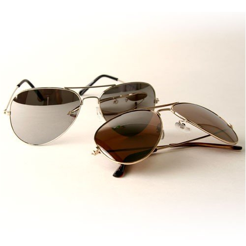 Gold & Silver Mirror Aviator 2-PK