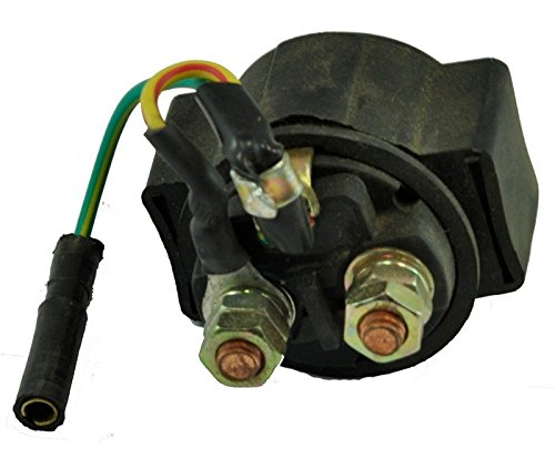Motorstar 1 Piece Starter Relay Starter Relay Solenoid Fit For Polaris Trail Boss 250 1990 1991 1992 1993 1994 1995 1996 1997 1998 1999 UTV 3pin terminals refrigerator ptc starter relay 12 ohm resistance